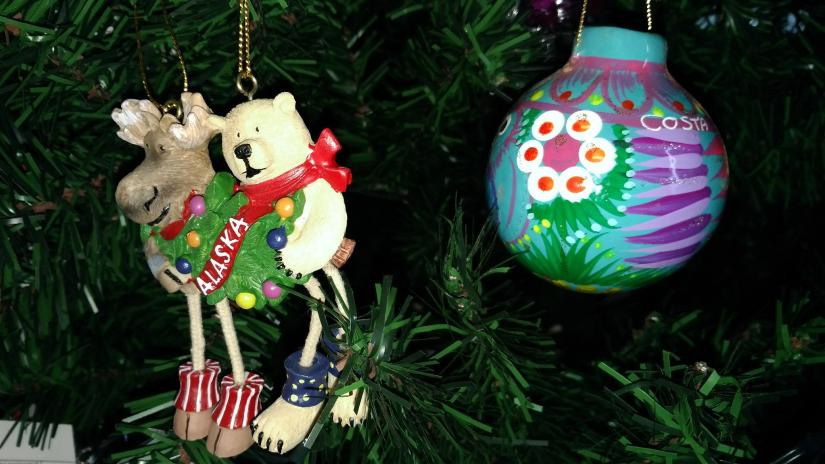 Alaska and Costa Maya ornament